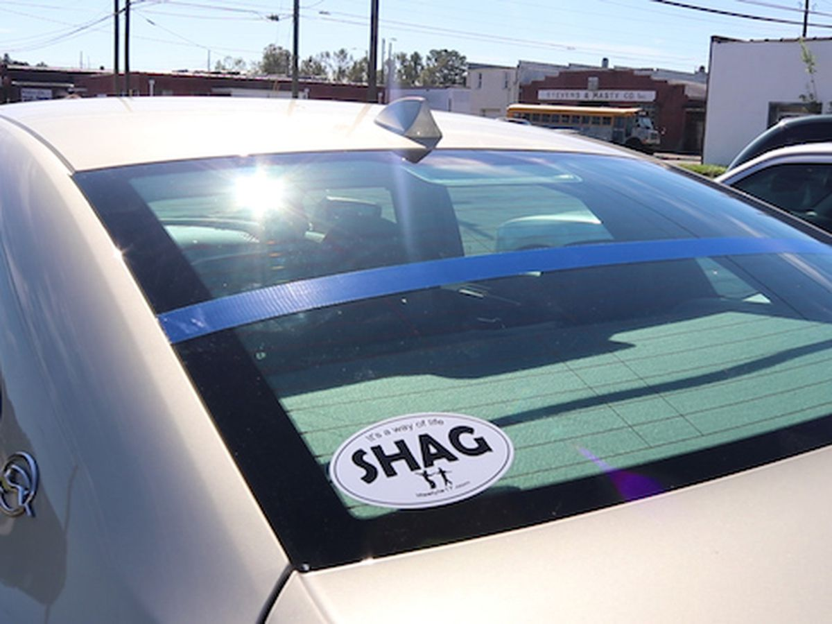 Drivers put blue painters tape on windshields in honor of fallen Highway Patrol Trooper Conner