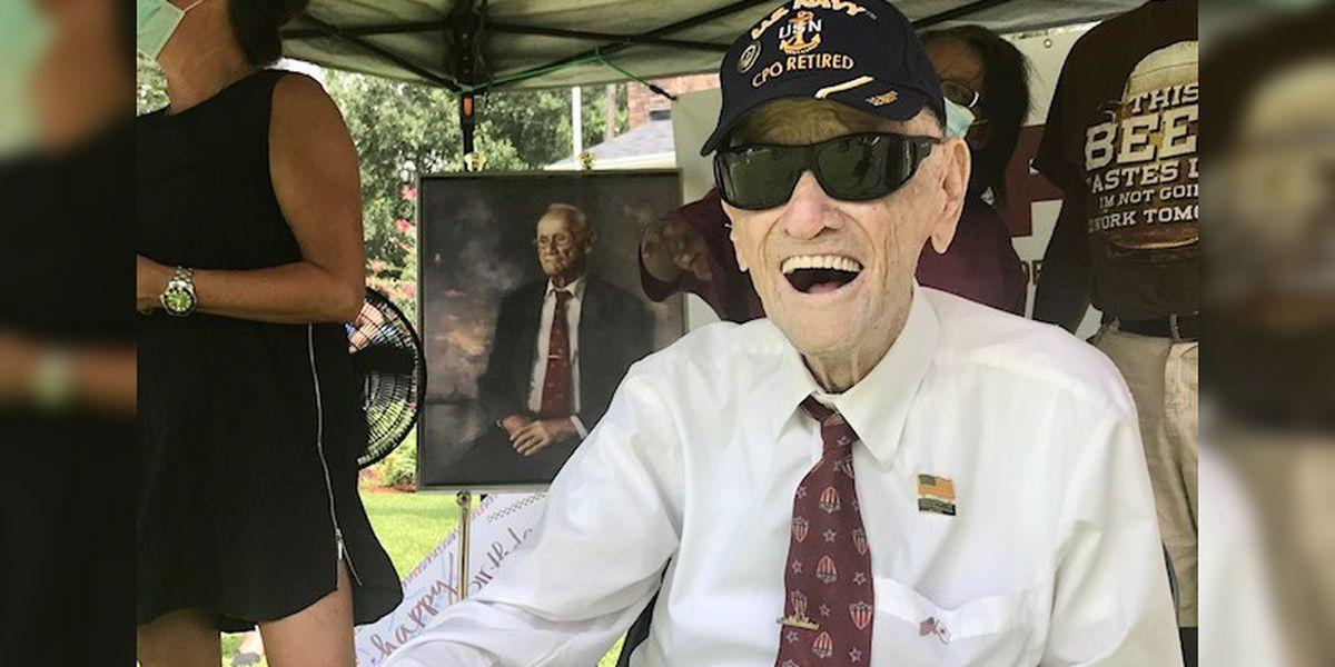 Parade held to honor World War II veteran's birthday