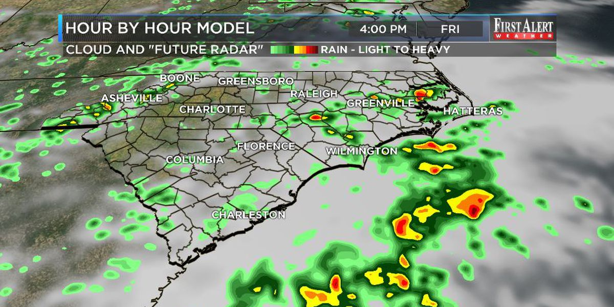 First Alert Forecast: needed rain chances at home, some rumblings in the tropics