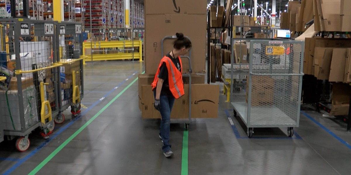 Inside the Amazon facility in Kannapolis, and there's a lot to see