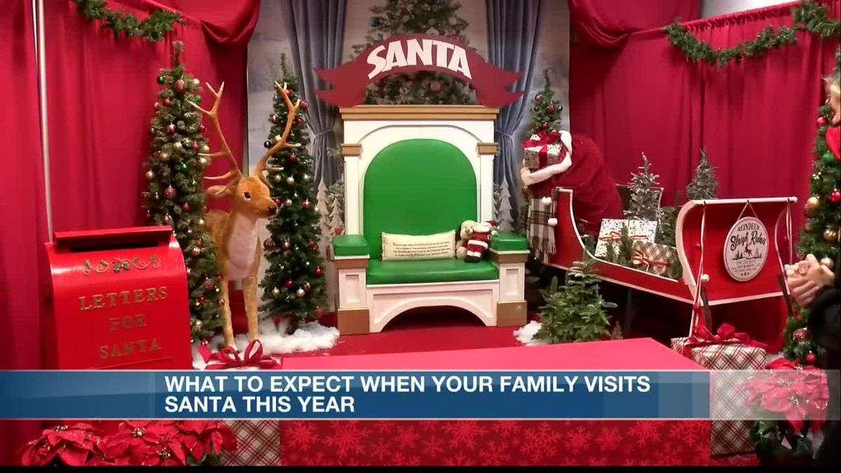 Visits with Santa will look a bit different this year