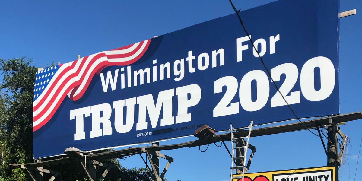 County GOP takes over Trump billboard in Wilmington that appeared to violate federal law