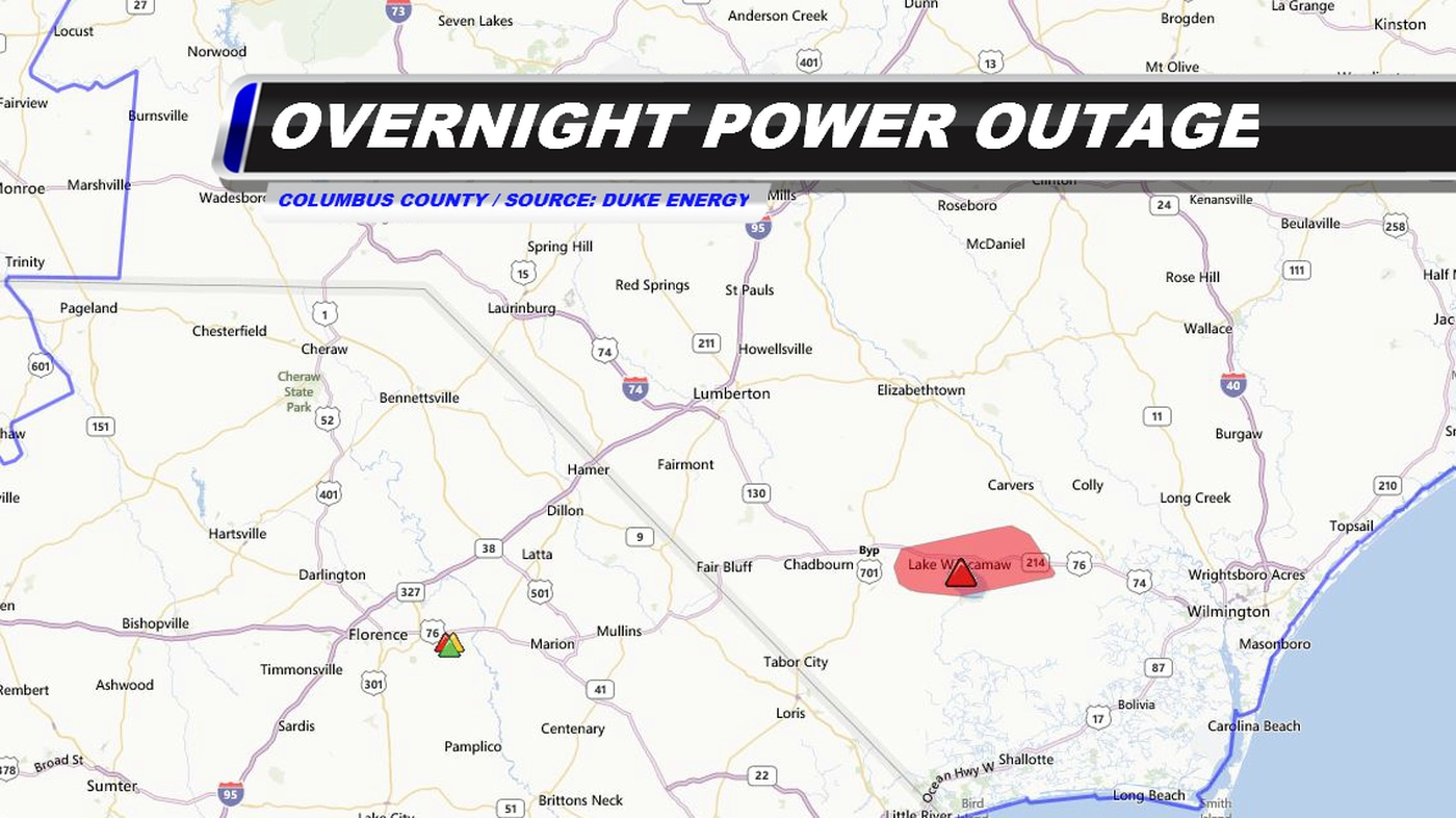 Equipment failure may have caused power outage in Columbus Co. on