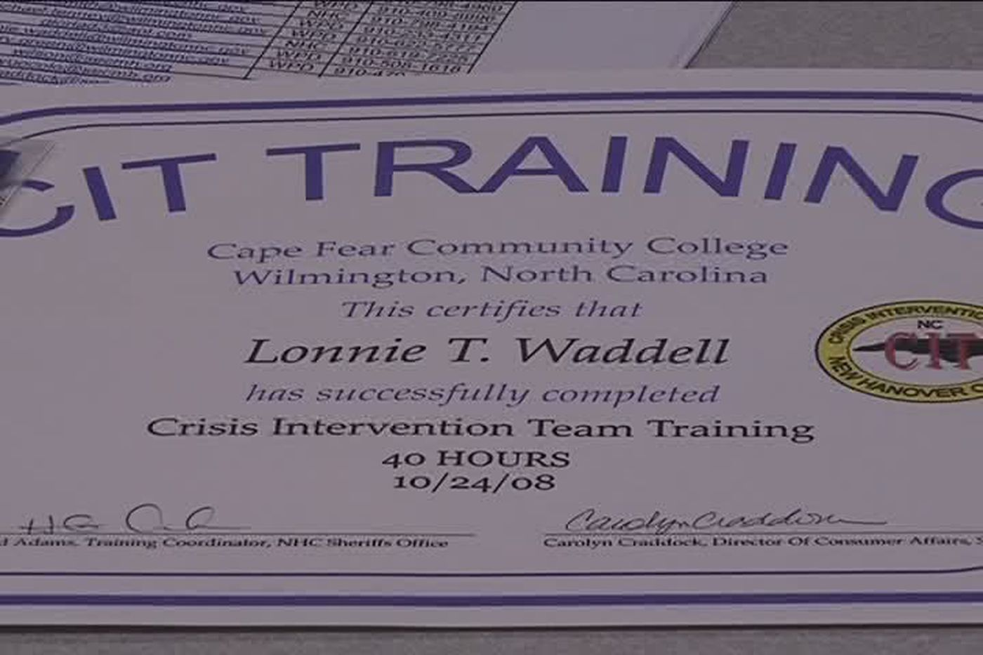 Law Enforcement Officers Graduate From Cit Training In Wilmington