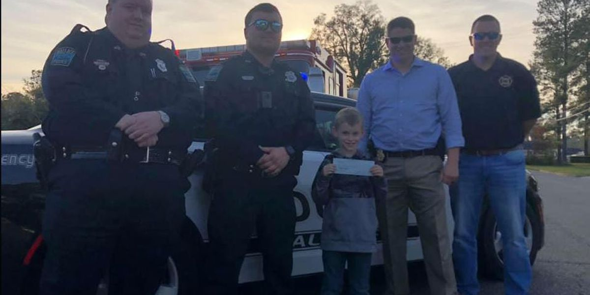 Young boy receives help from his hometown heroes