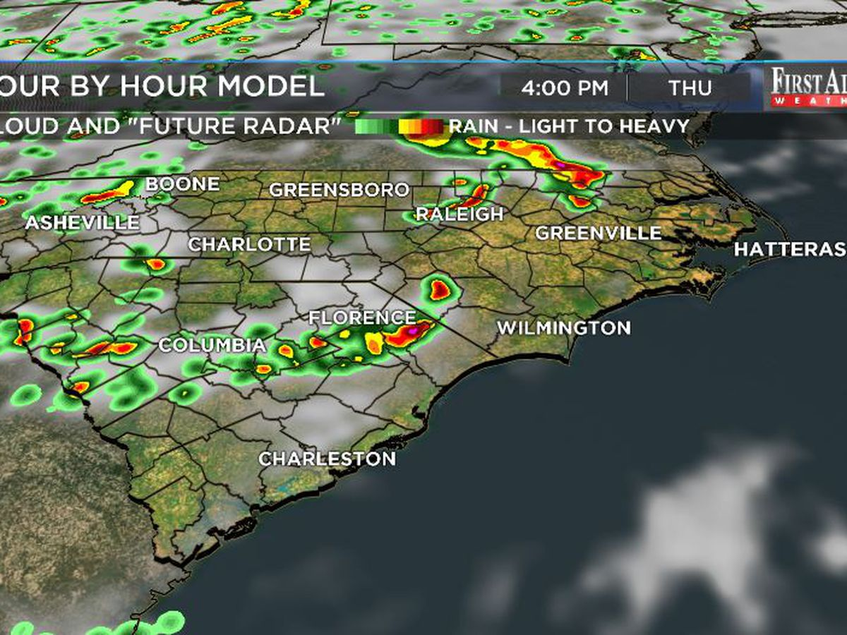 First Alert Forecast: clusters of strong, gusty storms late Thursday