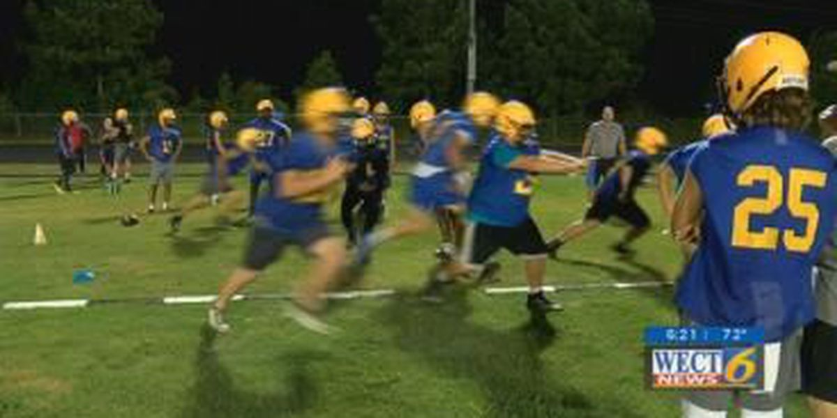 Laney High School hosts its annual midnight football practice