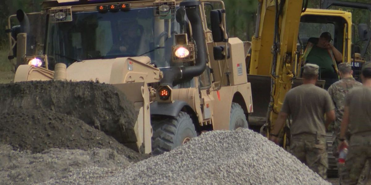 National Guard soldiers work to restore normalcy in Boiling Spring Lakes