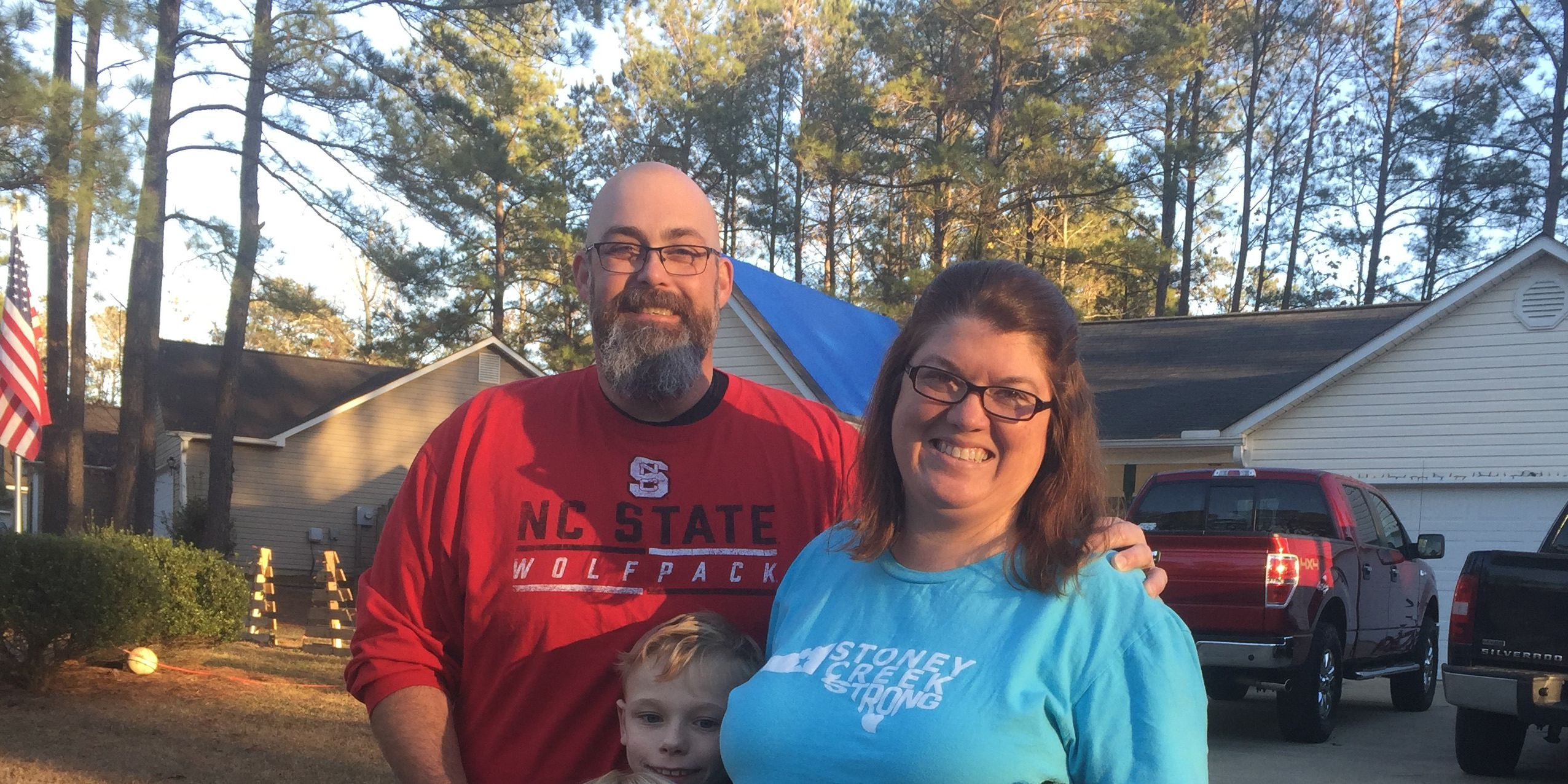 Home for Christmas: Family displaced by Florence moves back in for holiday