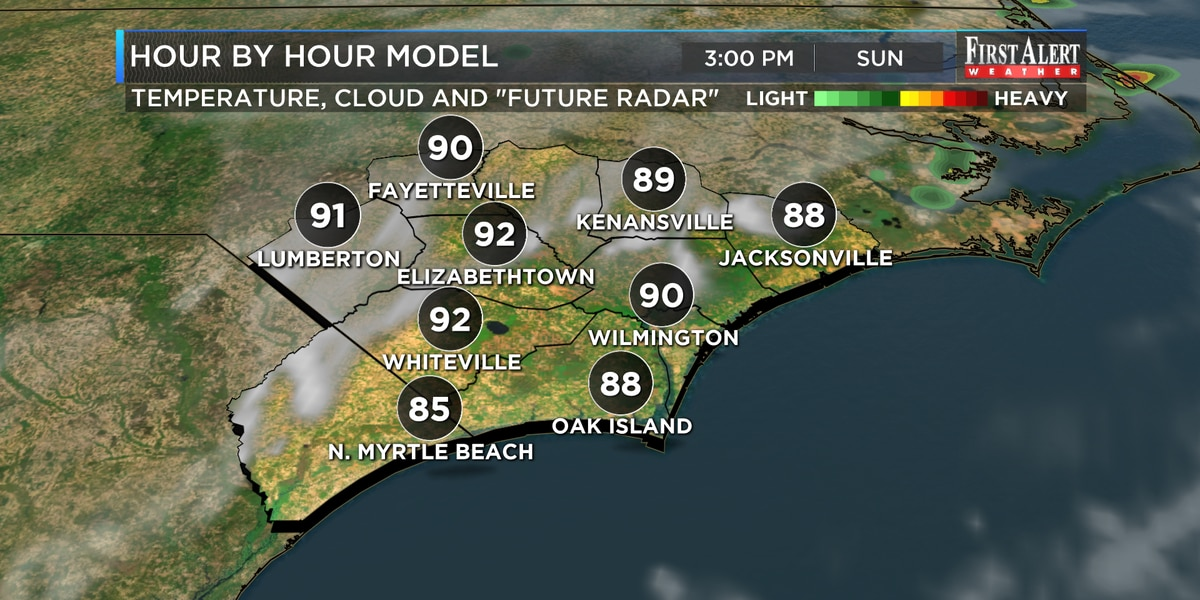 First Alert Forecast: hot and sunny, with few cooling showers