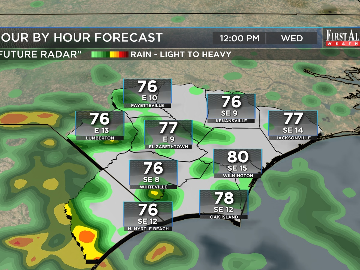 First Alert Forecast: nice for the holiday then higher rain chances set to return