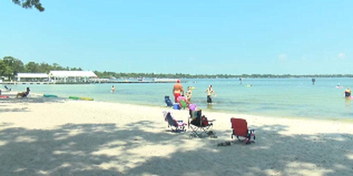 Beating the heat: People work to stay cool by the water in White Lake