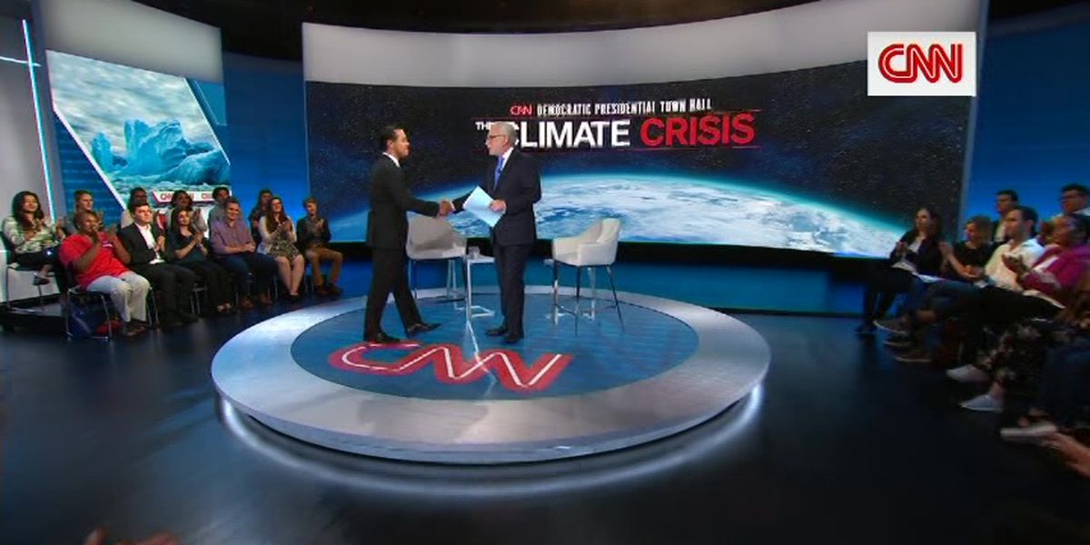 Democratic candidates focus on climate change in town halls