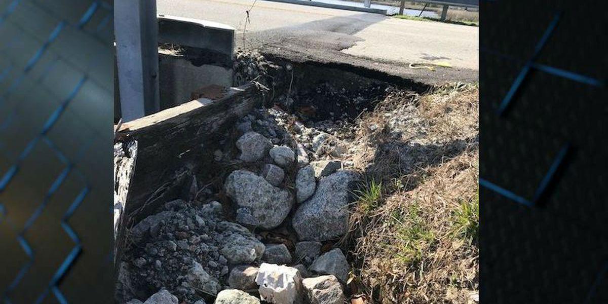 Washout at Brunswick County bridge to require lane closures
